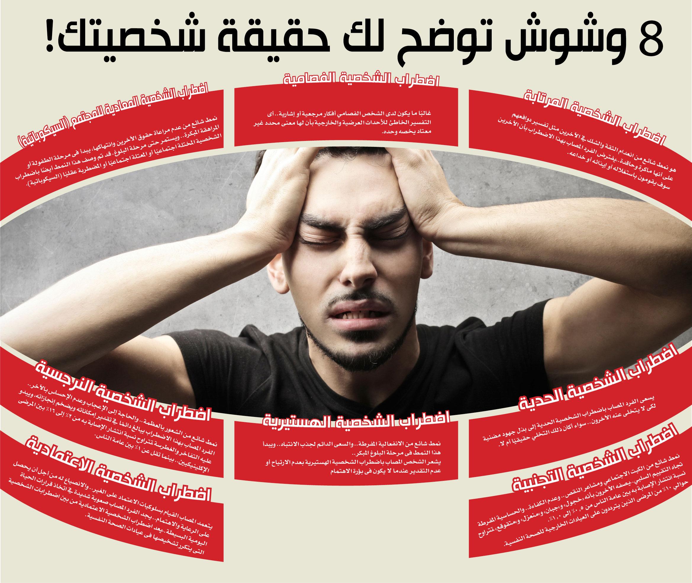 انفوجراف: 8 اضطرابات نفسية تهدد حياتك!